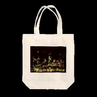 K×カットレットの工場moe!(火花) Tote bags
