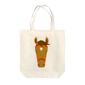 馬(栗毛) Tote bags