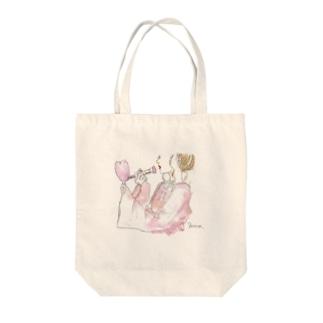 メイク 女の子 Tote bags
