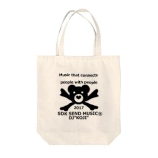 SEK SEND MUSIC Tote bags