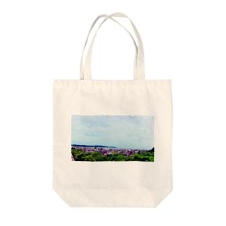 夏の某所にて Tote bags