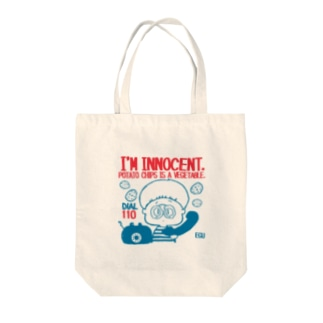innocent chips  Tote bags