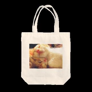 おまめさんの仲良しにゃんこ Tote bags