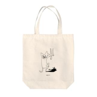 猫シャッ Tote bags