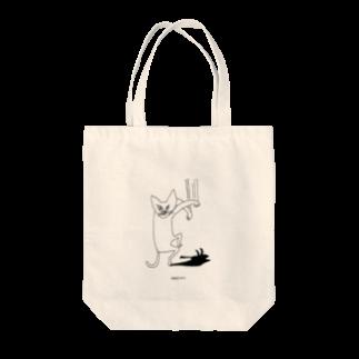 カラシソエルの猫シャッ Tote bags