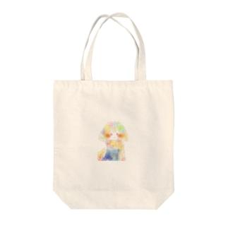 星空ワンピース Tote bags