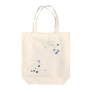 よつば(寒色系) Tote bags