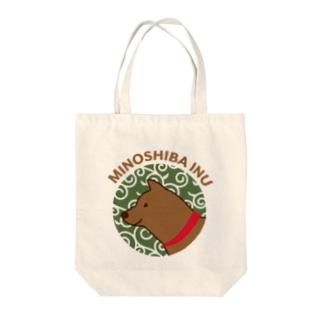 【NEW】美濃柴犬レッド Tote bags