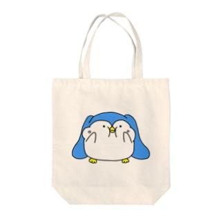 ぷにぷにQペンギン Tote bags
