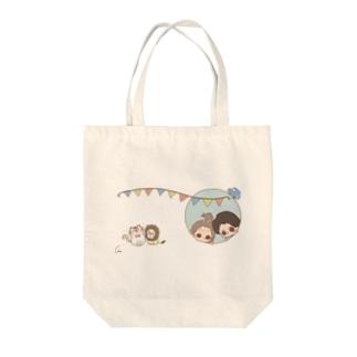 もふぽしゃ Tote bags