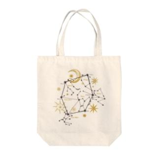 星座|冬空のダイアモンド Tote bags