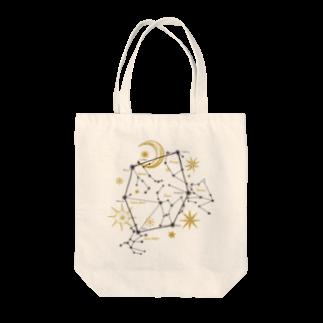 ラビッシュアートの 星座|冬空のダイアモンド Tote bags