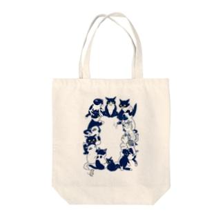 白黒猫会議 トートバッグ