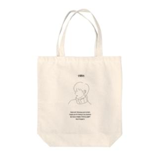 幸せな記憶と Tote bags