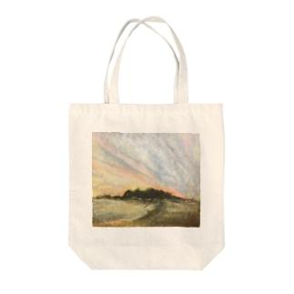 雰囲気のある夕焼け Tote bags