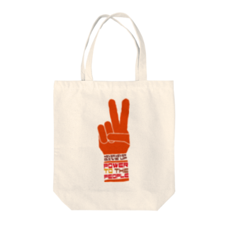 plusworksのPOWER TO THE PEOPLE Tote bags