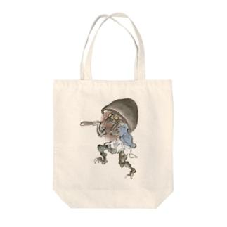 百鬼夜行絵巻 磬子の付喪神【絵巻物・妖怪・かわいい】 Tote bags
