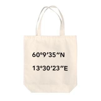 緯度経度 トートバッグ Tote bags