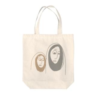 かわいそうなものを見るふたり Tote bags