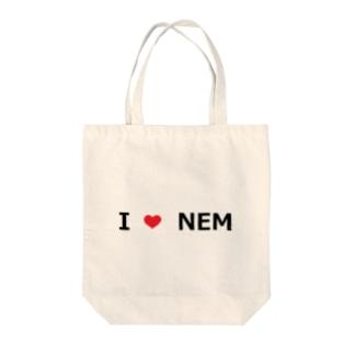 I Love NEM Tote bags