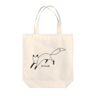 kitsune  Tote bags