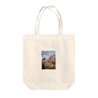 上田城桜1 Tote bags