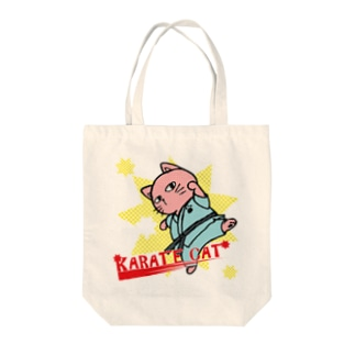 【猫郎雑貨店】KARATE CAT Tote bags