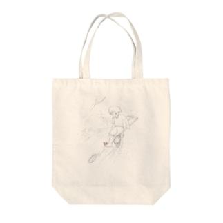川遊び Tote bags