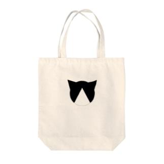 ハチワレ Tote bags