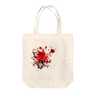 血飛沫 Tote bags