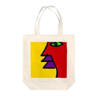 profile (横顔) Tote bags