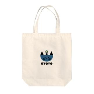 BLOOMING NEKO Tote bags