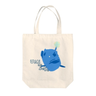 チョウチンアンコウくん Tote bags