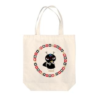 ブラックジョーカーのクレコちゃん Tote bags