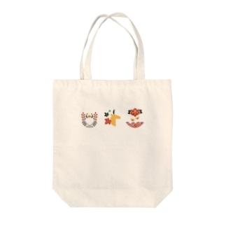 【まあるい花札】猪鹿蝶 Tote bags