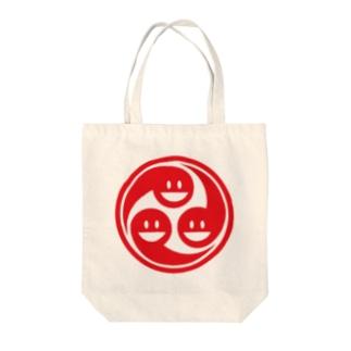 スマイル巴 Tote bags