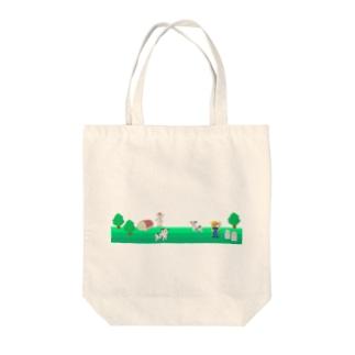 牧場の風景シリーズ Tote bags