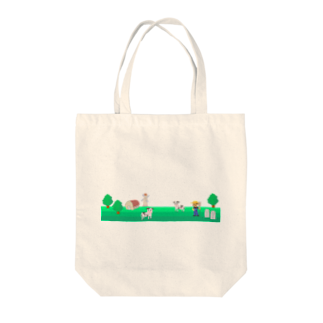 牛乳だいすき!の牧場の風景シリーズ Tote bags