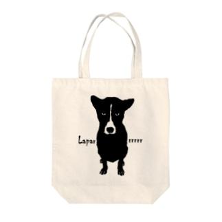 バリ犬(文字入り) Tote bags