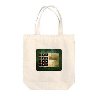 ENTER PASSWORD Tote bags