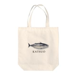 カツオ Tote bags