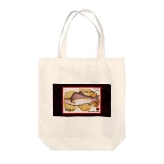 カラフトマス!釧路川(PINK SALMON;北海道)生命たちへ感謝をささげます。※価格は予告なく改定される場合がございます。 Tote bags