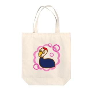 ひとやすみナベヅル Tote bags