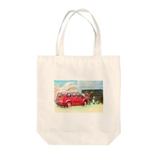 ふんわり洗車 Tote bags