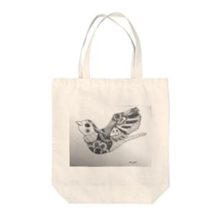 はばたく鳥(ゼンタングル) Tote bags