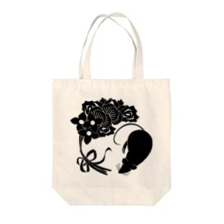 SF家紋「鼠に華束」 トートバッグ