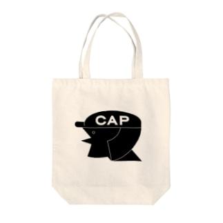 cap girl Tote bags