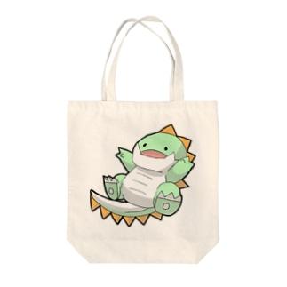 社畜ドラゴンのうれしいしゃちどら Tote bags