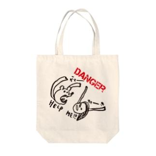 DANGER Tote bags