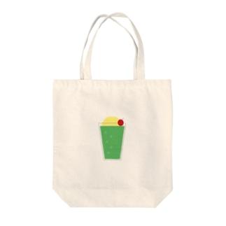 チープなクリームソーダ Tote bags